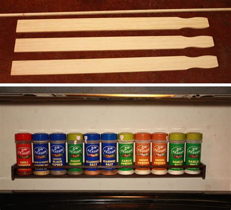 Build A Spice Rack From Paint Sticks