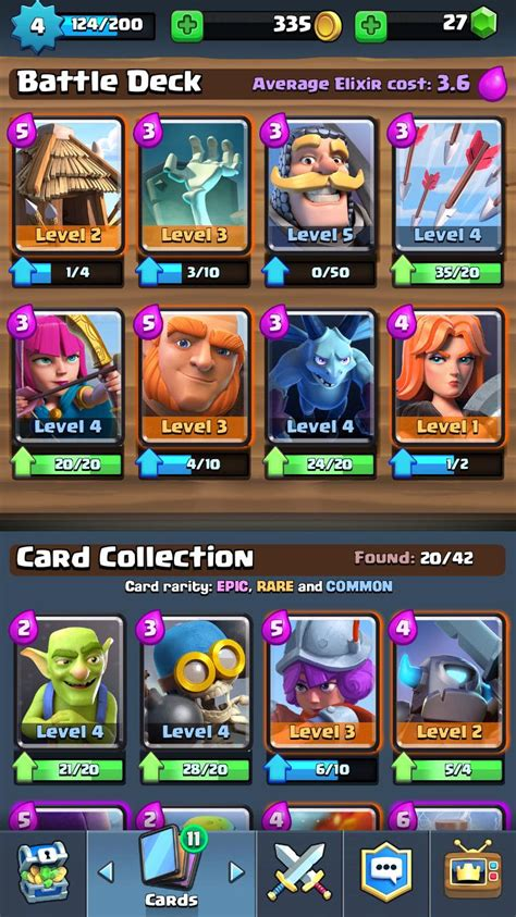 Build A War Deck Clash Royale Arene
