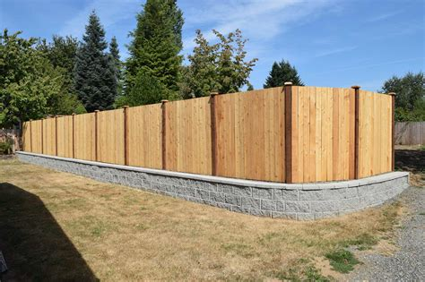 Build A Wood Fence In Front Of Block Wall