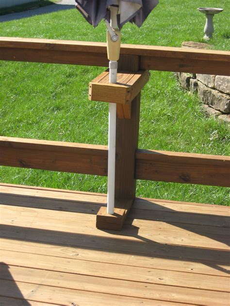 Build Deck Rail Umbrella Holder Video