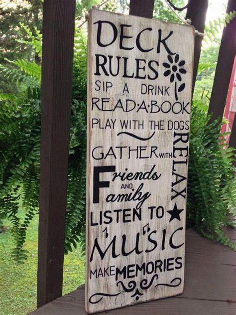Build Deck Rules Plaque