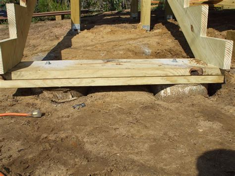 Build Deck Stair Footings Into Ground