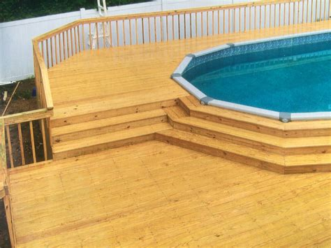 Build Decks For Above Ground Pools