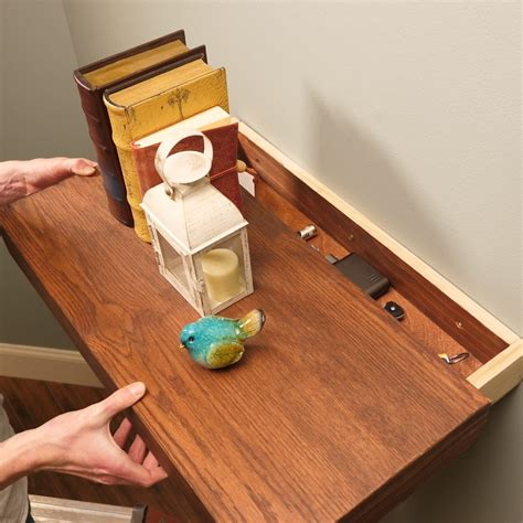 Build Floating Shelf With Hidden Drawer Pulls