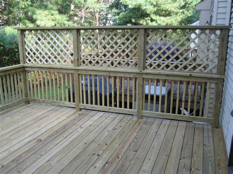 Build Lattice Privacy Screen Deck Railing
