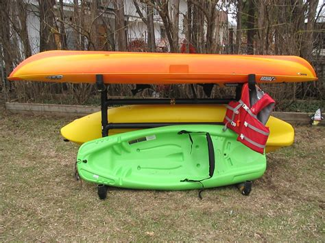 Build Outdoor Canoe Storage Rack