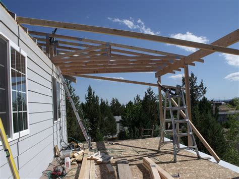 Build Porch Deck Supporting Roof Ridge