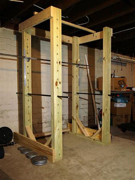 Build Squat Rack Wood