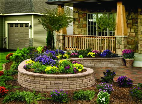 Build Stone Wall Around Flower Bed