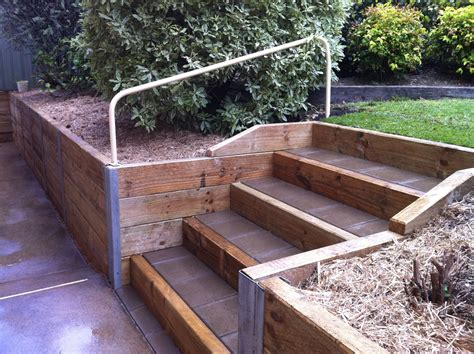 Build Timber Retaining Wall Steps