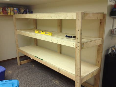 Build Wood Storage Shelves For Garage