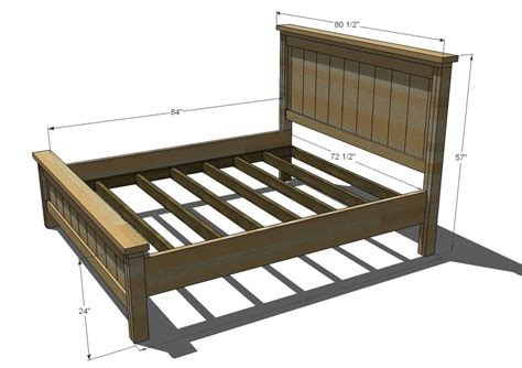 Build Your Own California King Bed Frame Plans