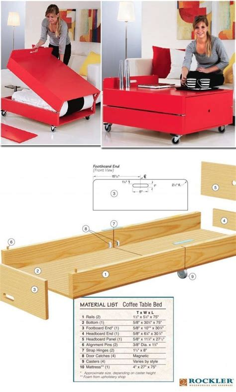 Build Your Own Convertible Coffee Table