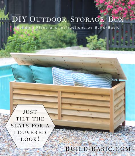 Build Your Own Patio Deck Box