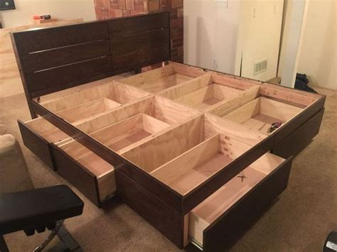 Build Your Own Platform Bed With Drawers