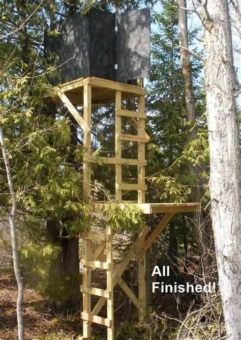 Build Your Own Tree Stand Plans