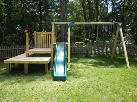 Build Your Own Wooden Swing Set Kits
