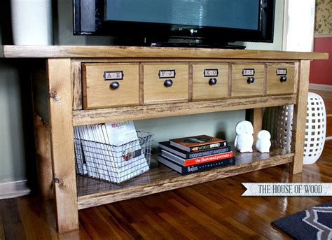 Build Your Own Wooden Tv Stand