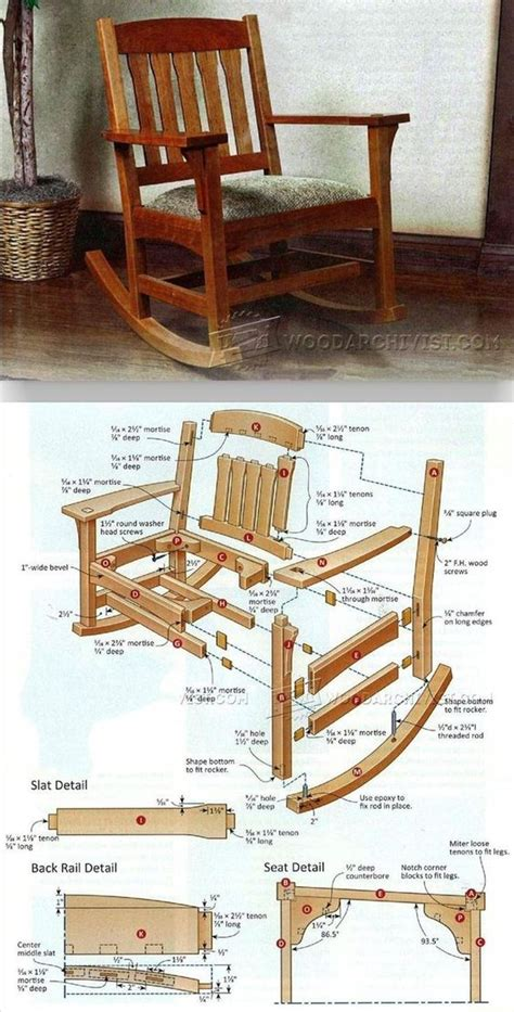 Build a wooden rocking chair Image