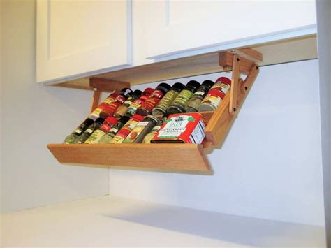 Build an under cabinet spice rack Image