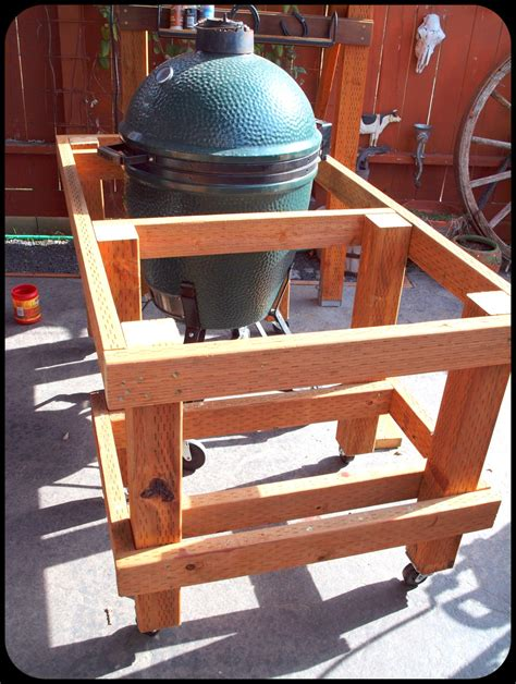 Build-A-Green-Egg-Bbq-Table-Plans