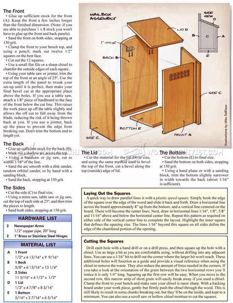 Build-A-Mailbox-Plans