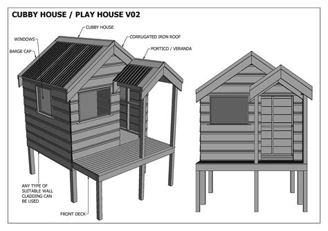 Build-Your-Own-Cubby-House-Plans