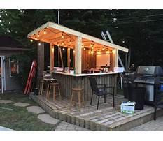 Best Build a outdoor patio bar