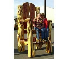 Best Build log chair