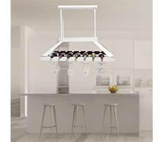 Best Build overhead wine glass rack