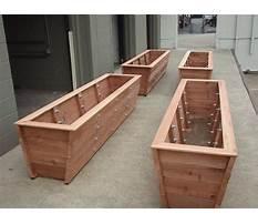 Best Build wooden planter box plans