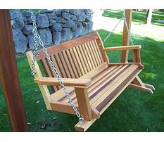 Best Build your own wooden porch swing