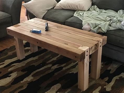 Building A Side Table With 4x4 Legs Pics