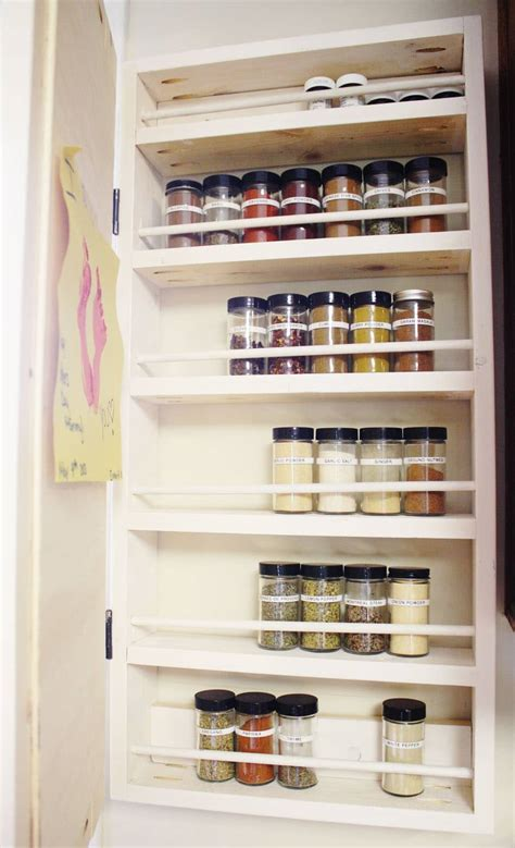 Building A Spice Rack In Cabinet