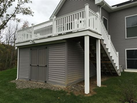 Building A Storage Shed Under A Deck