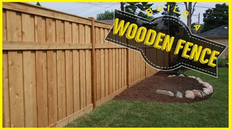 Building A Wood Fence Youtube