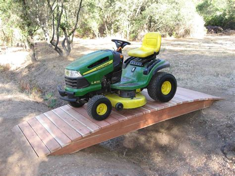 Building A Wooden Bridge For Lawn Tractor