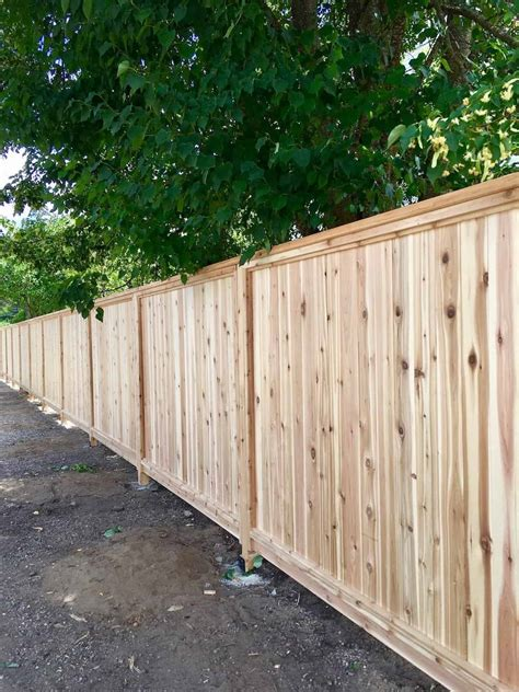 Building A Wooden Privacy Fence
