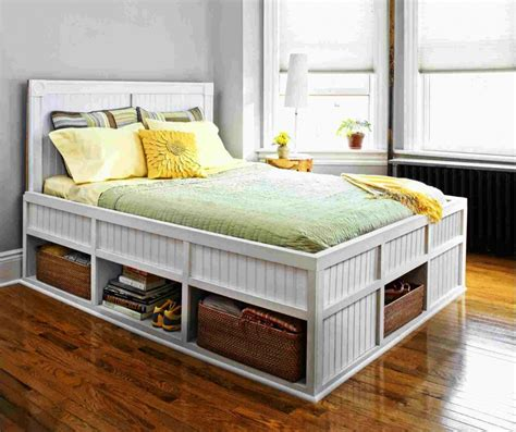 Building Bed Frame With Storage