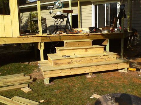 Building Deck Steps On Uneven Ground