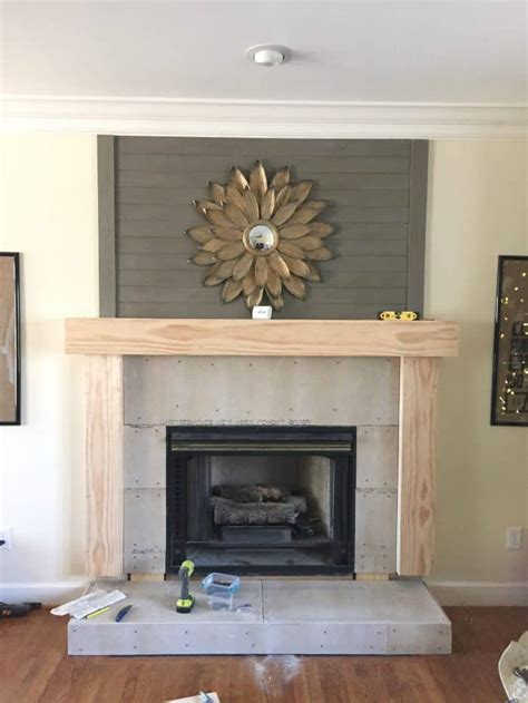 Building Fireplace Mantel With 4x8 Paneling