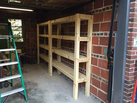 Building Garage Shelving With 2x4s Around Trees