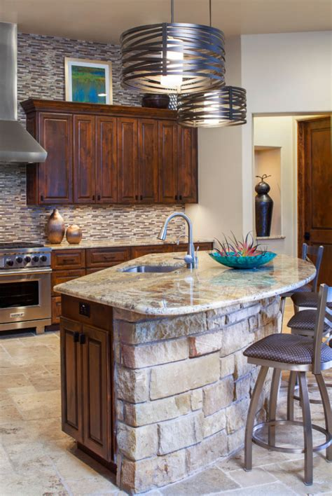 Building Kitchen Islands Ideas With Rock