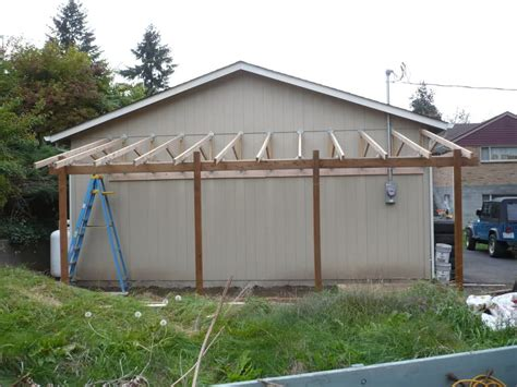 Building Lean To Shed Off Garage