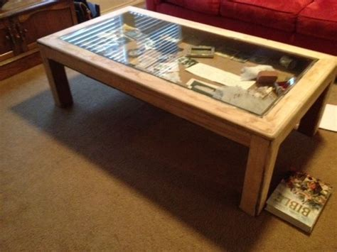 Building Plans Display Coffee Table Glass Top