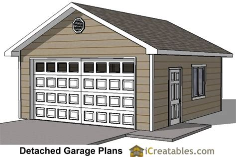 Building Plans For 20x20 Garage