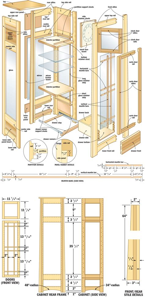 Building Plans For A Corner Curio Cabinet
