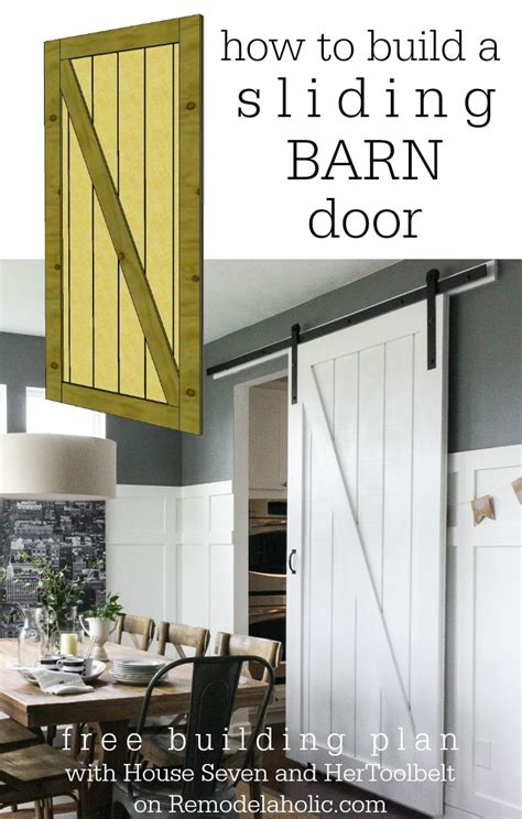Building Plans For A Sliding Barn Style Door