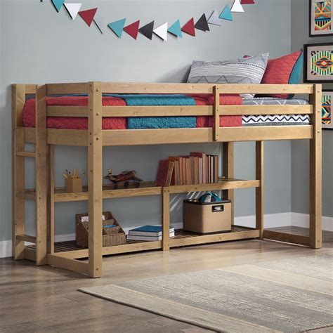 Building Plans For Low Loft Bed With Storage