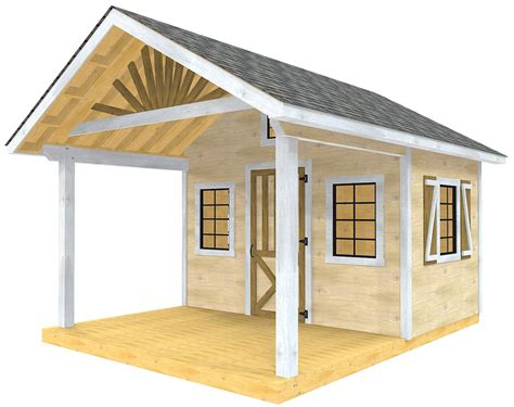 Building Plans For Shed With Porch
